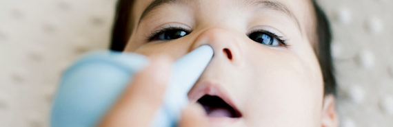 bulb syringe in baby nose