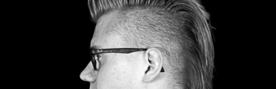 haircut guy in bw