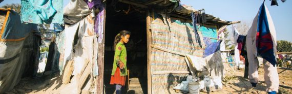 Slum in Tripureshwor district, Kathmandu