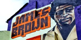 james brown mural