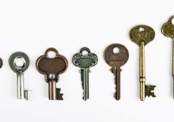 keys on white