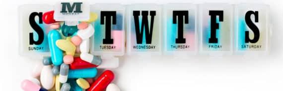 overflowing pill box
