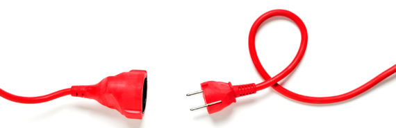 red electrical cord on white