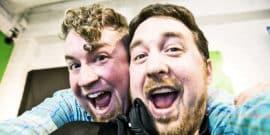 two men take selfie