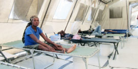 cholera treatment unit in Haiti