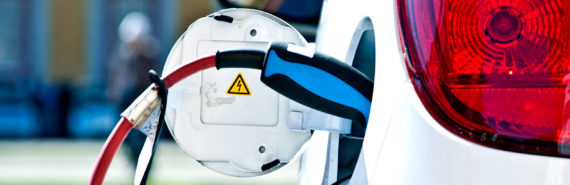 plugged in electric car