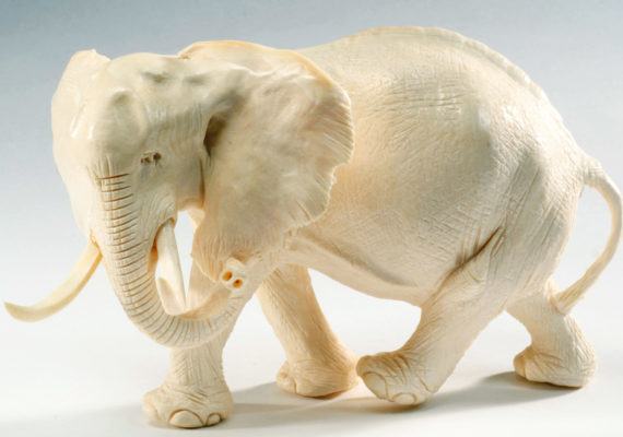 elephant carved from ivory
