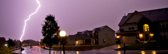 lightning and houses