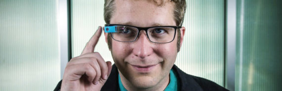 Thad Starner wears Google Glass