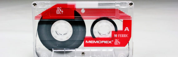 clear cassette tape