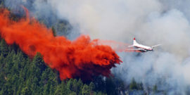plane fighting wildfire