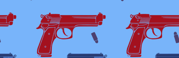 gun illustration repeating pattern