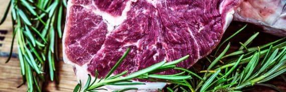 steak and rosemary