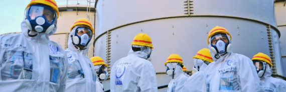 inspection of Fukushima water tanks