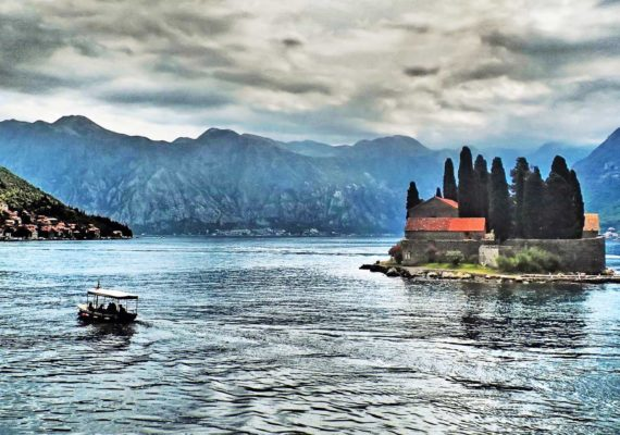 Adriatic sea island and boat