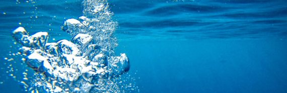 bubbles in the ocean