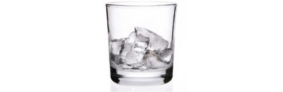 glass filled with ice