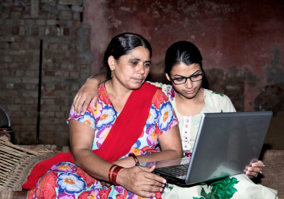 indian women with laptop