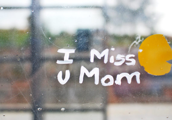 i miss u mom on window