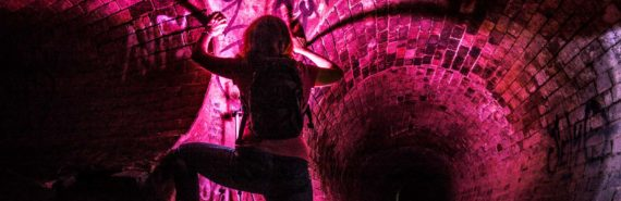 intruder in pink tunnel
