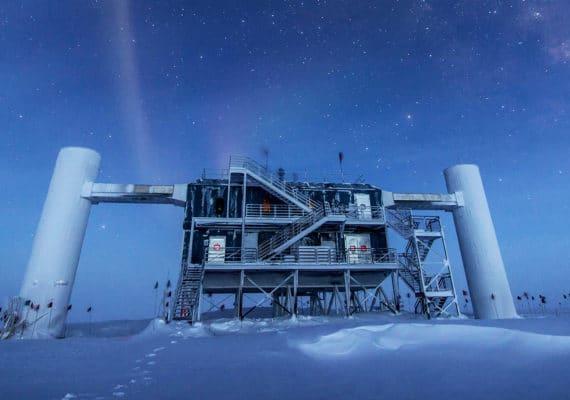 IceCube observatory at night