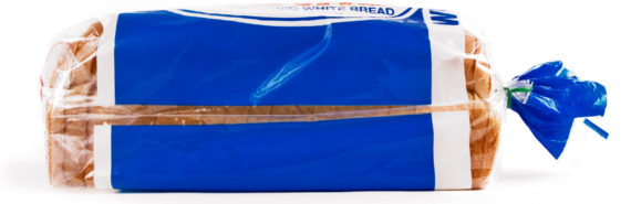 loaf of bread in blue packaging