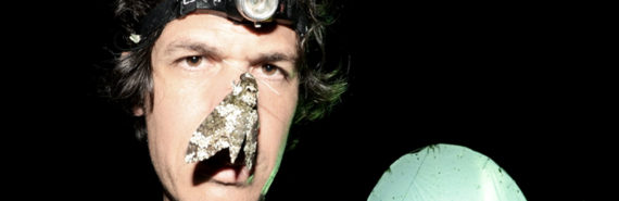 Eran Levin with moth on face
