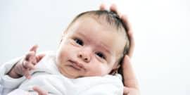 newborn baby's face