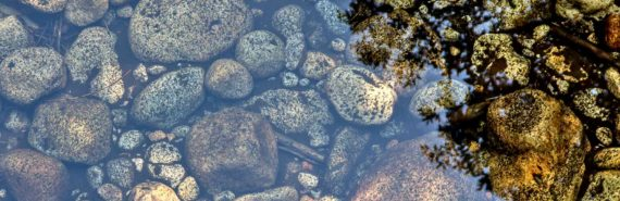 rocks under stream water
