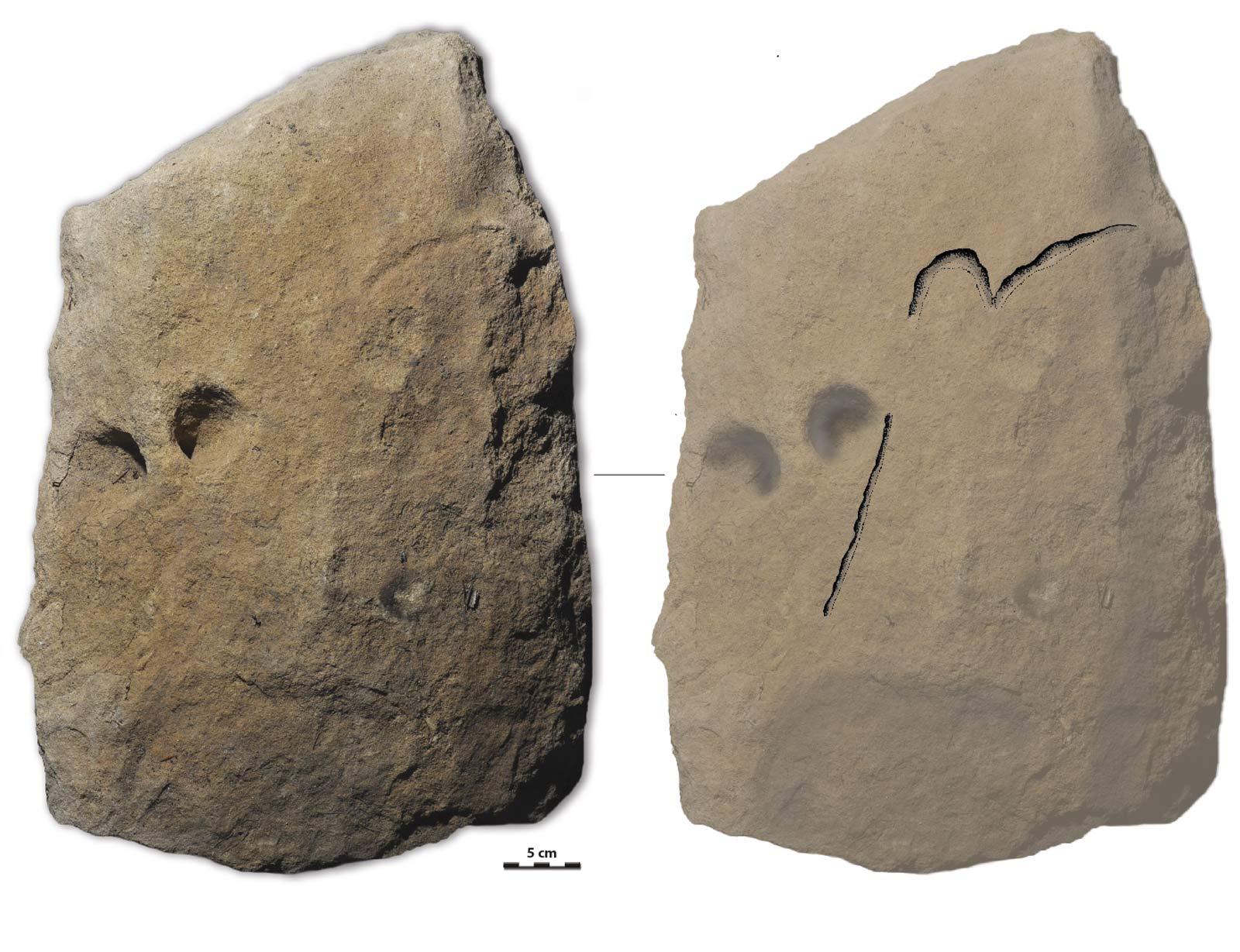 mammoth on limestone