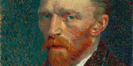 detail from van Gogh self-portrait