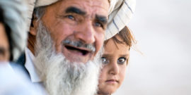 afghan girl and grandfather