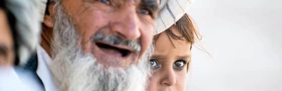 afghan girl and grandfather