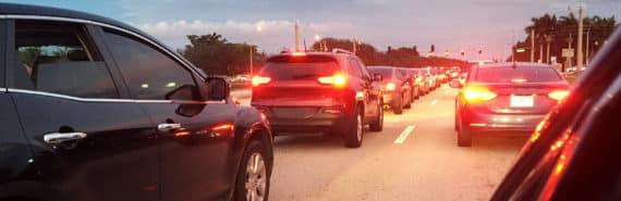 brake lights in traffic jam
