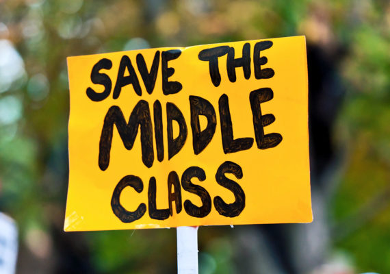 sign says save the middle class