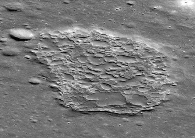 caldera on the moon called Ina