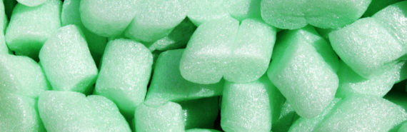 green packing peanuts