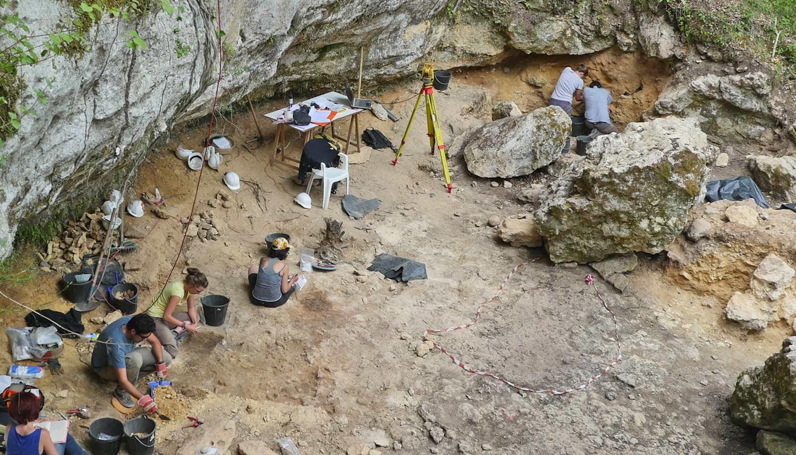 abri cellier excavation