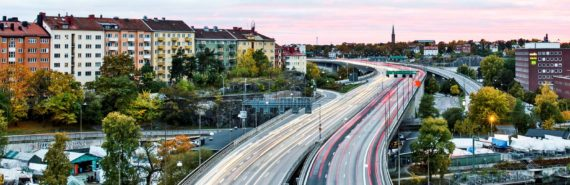 busy highway in stockholm