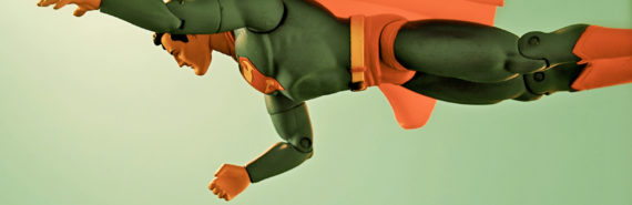 superman toy in retro tint