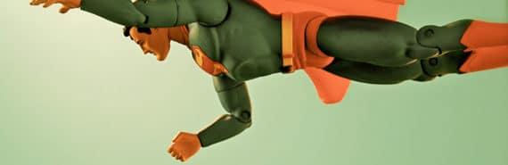 superman toy in retro tint