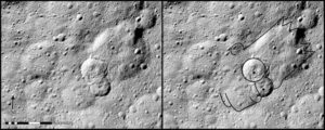 Ceres landslide looks like bart simpson