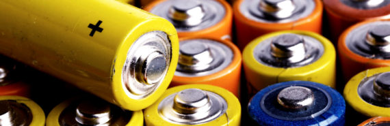 yellow, orange, blue batteries