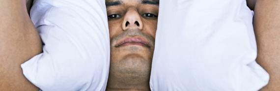 man upset to not get deep sleep