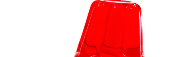 red jello leans to the right
