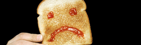 sad jam on toast