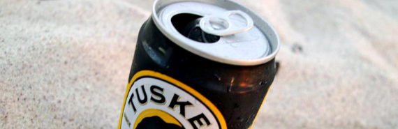 tusker beer in the sand
