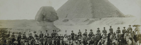 solders in front of sphinx