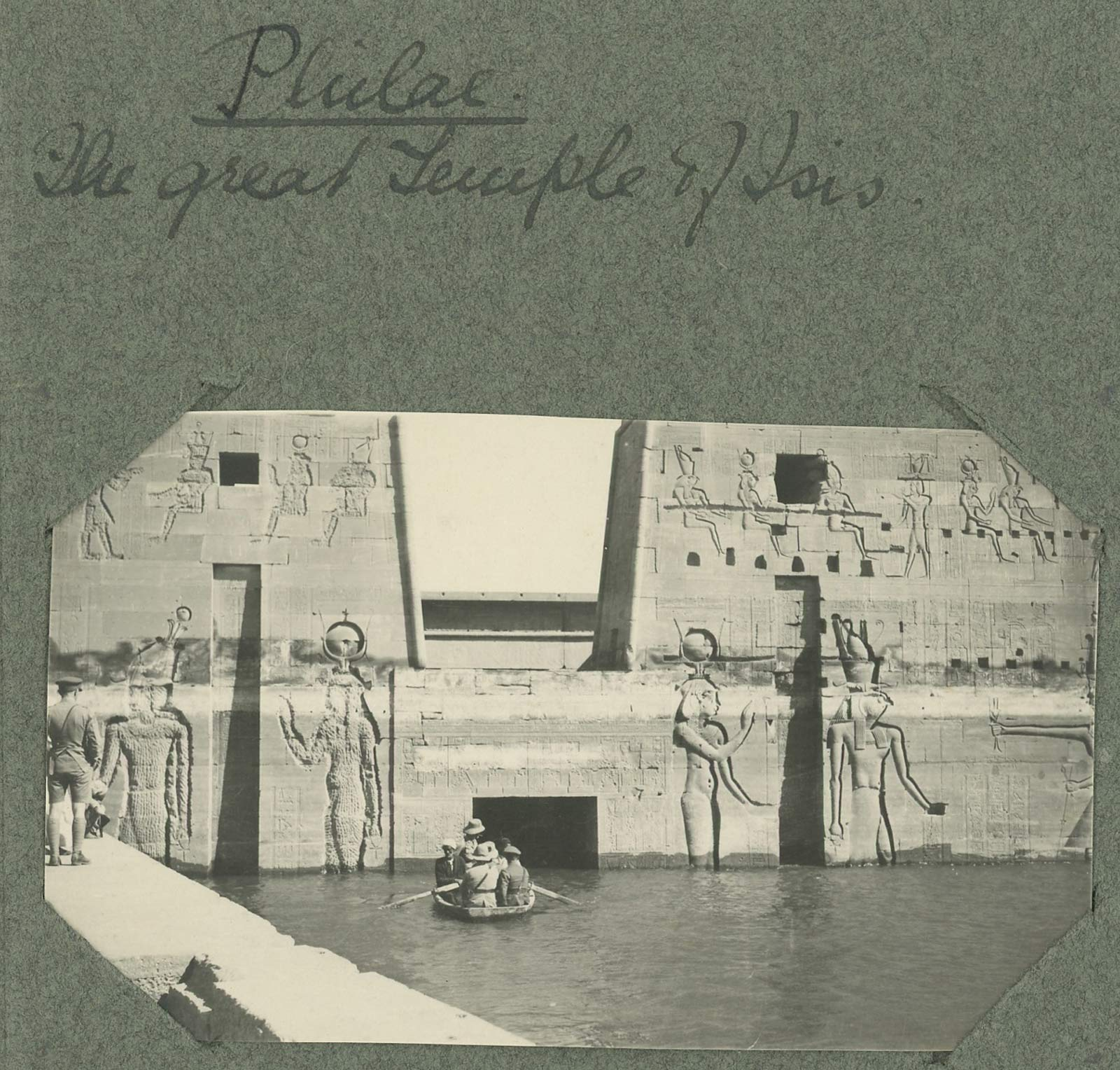 soldiers at temple of isis