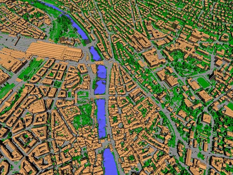 3D model of Zurich built by VarCity program